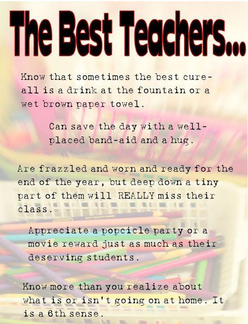 THE BEST TEACHERS.....(read this, so true) | Good ...