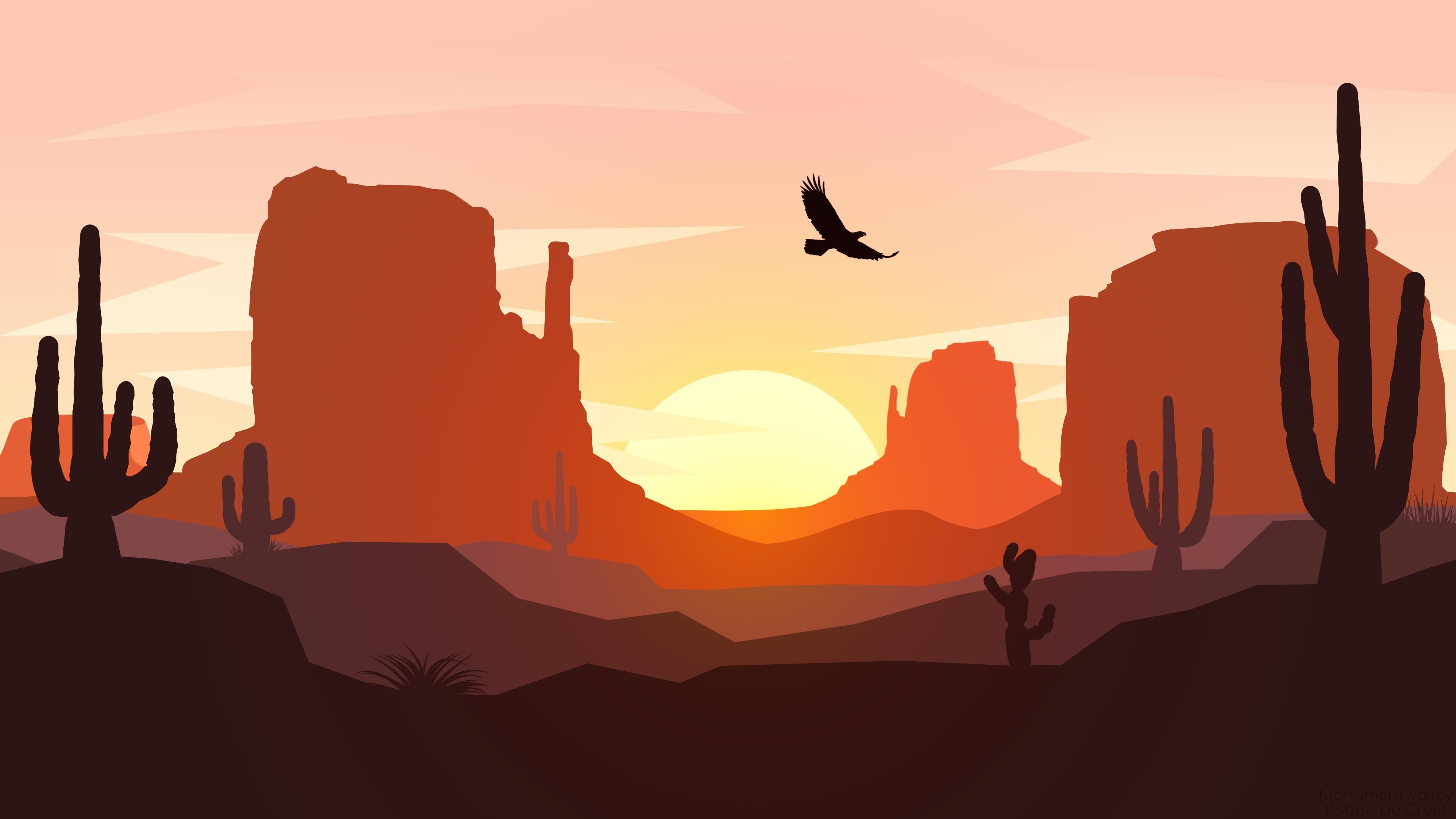 Monument Valley Flat Landscape Design 4k Wallpaper Wallpaper Landscape Design Landscape