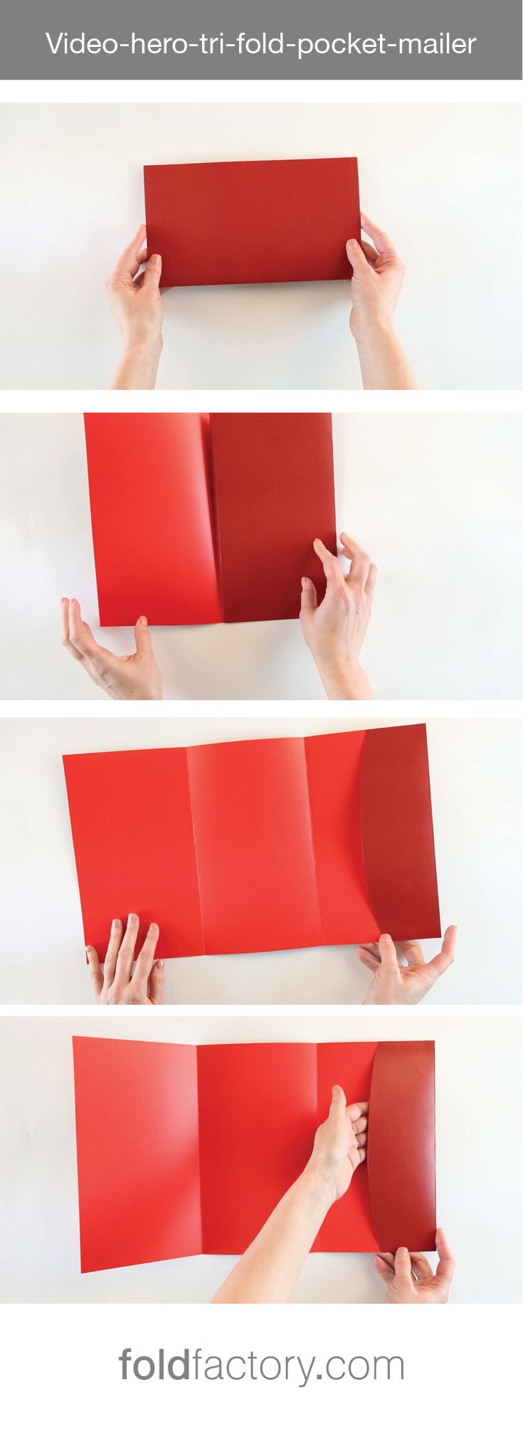 the tri fold pocket mailer is simple and stylish using a classic