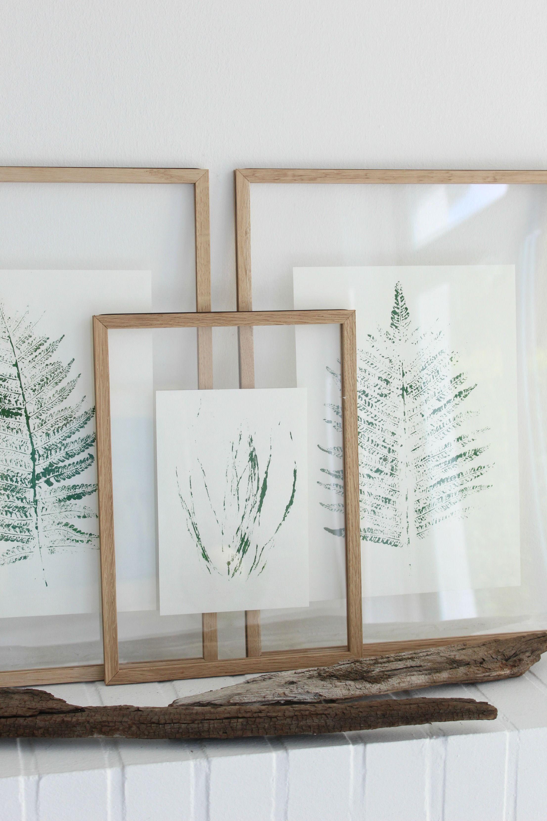 Wohnzimmerwandrahmen pflanzendrucke zum selbermachen und aufhängen  deko  pinterest