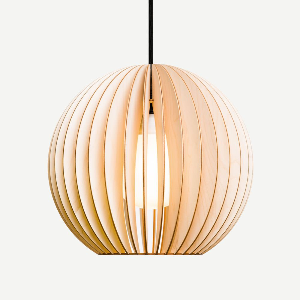 AION wood lamp, pendant lighting, wooden lampshade
