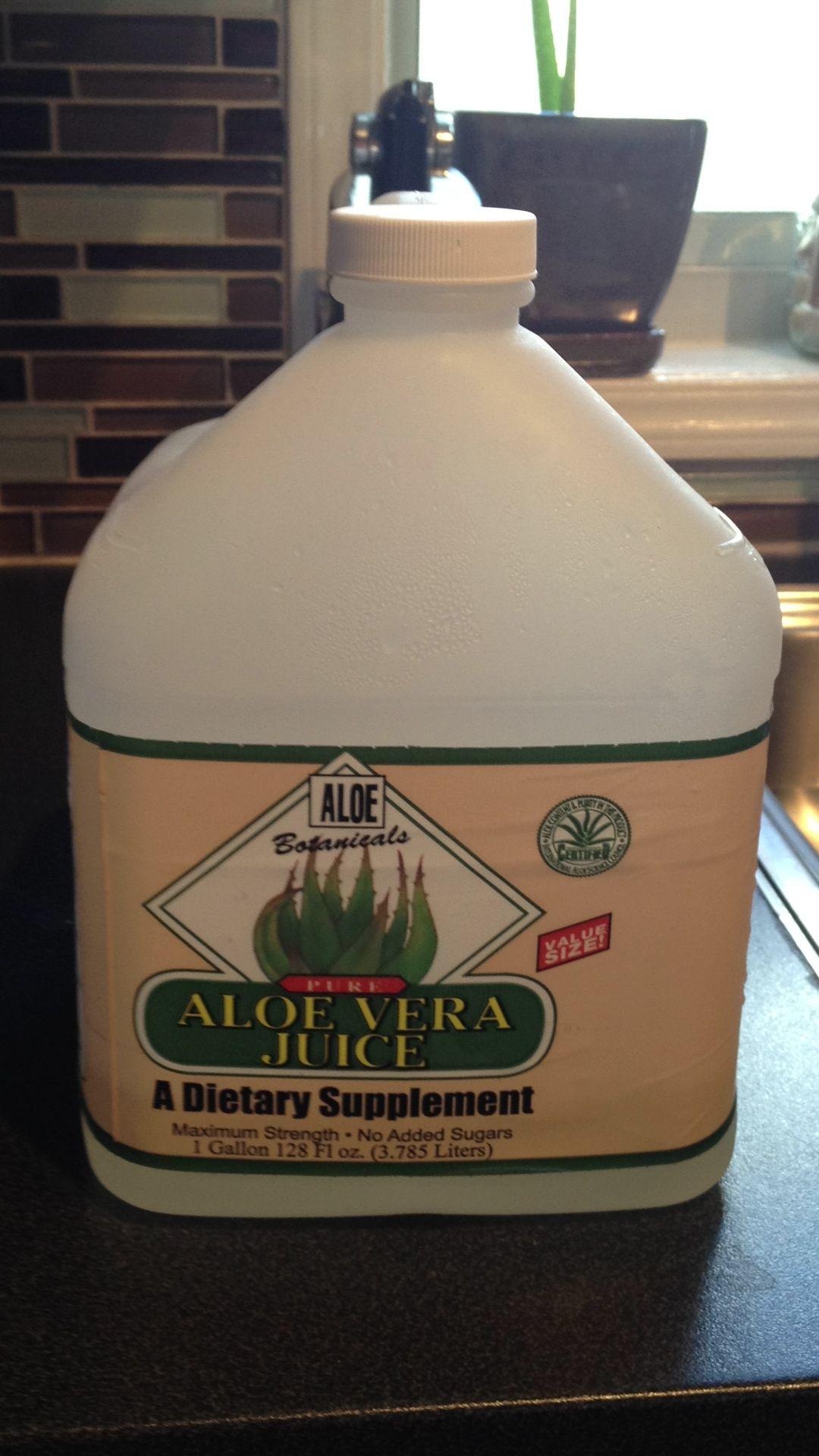 Aloe vera juice love it such a great feeling after