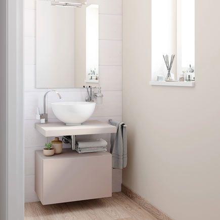 Mueble de lavabo onix leroy merlin color piedra 319 30 for Lavabos sobre encimera leroy merlin