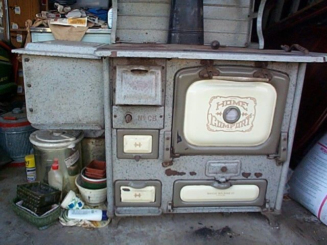 Antique Home Comfort Coal / Wood Cook Stove - Home Comfort Stove I Have One Just Like It Only I Have A Water