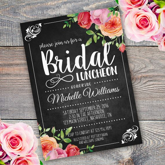 Bridal Luncheon Invitation Template Edit With Adobe Reader - Bridesmaid luncheon invitations template