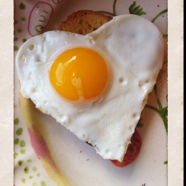 Heart shaped egg cutter!