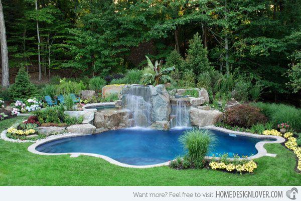 Kühlen Hinterhof Pool Landschaft Ideen #Garten