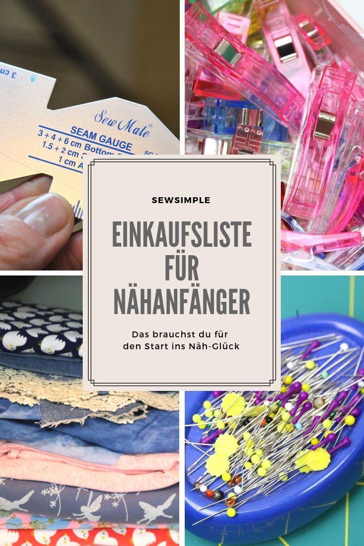▷ Einkaufsliste für Nähanfänger: So klappt der Start ins Näh-Glück! #sewingbeginner