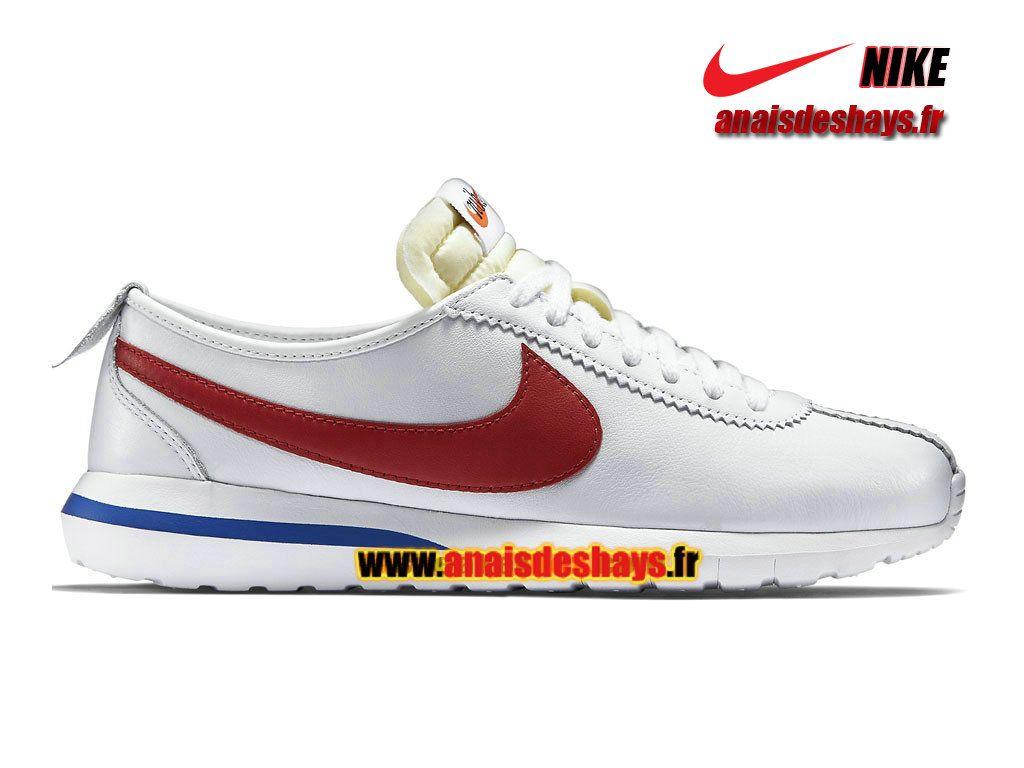 premium selection 636ee bfac9 Boutique Officiel Nike Roshe One Cortez Homme Blanc Rouge intense Bleu  électrique 806952-164