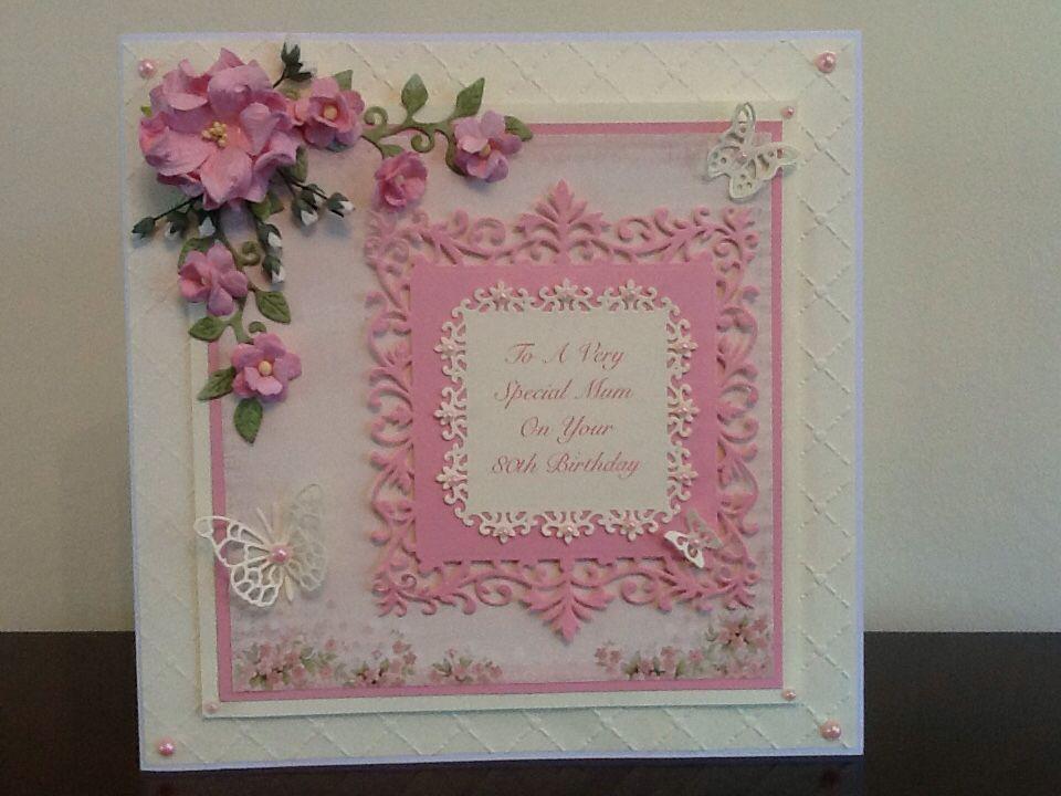 80th Birthday Card Card Pinterest 80th Birthday Cards Cards
