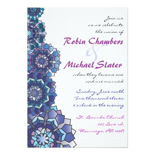 Stained Glass Wedding Invitation Invite