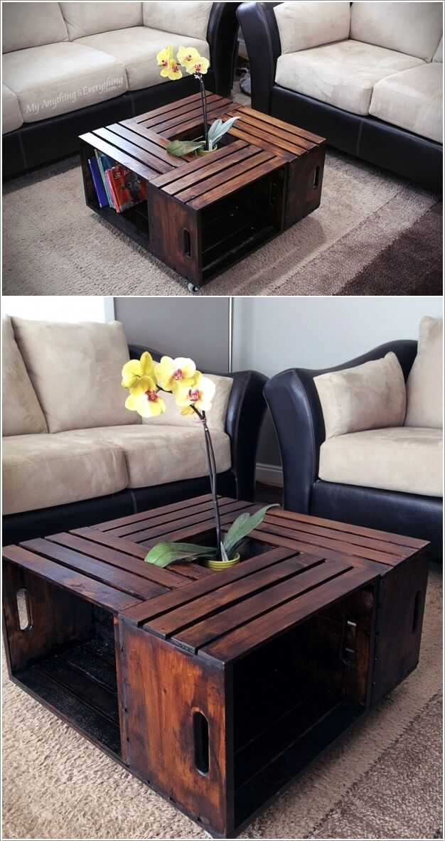 Crate Furniture Diy. Look At These Incredible Wooden Crate Furniture Ideas  Diy W