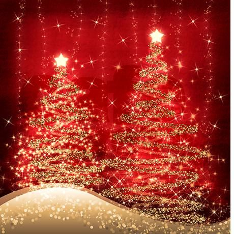 Sparkling Christmas Trees Red Shower Curtain | Christmas shower ...