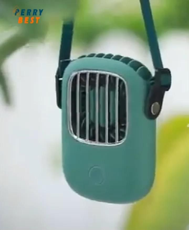 Portable Hanging Neck Fan Mini Pocket Usb Rechargeable Air Cooling Fan Video In 2020 Hanging Cooling Fan Cool Gadgets