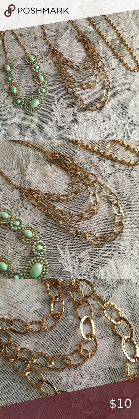 All Wearable Lot of 10 Necklaces