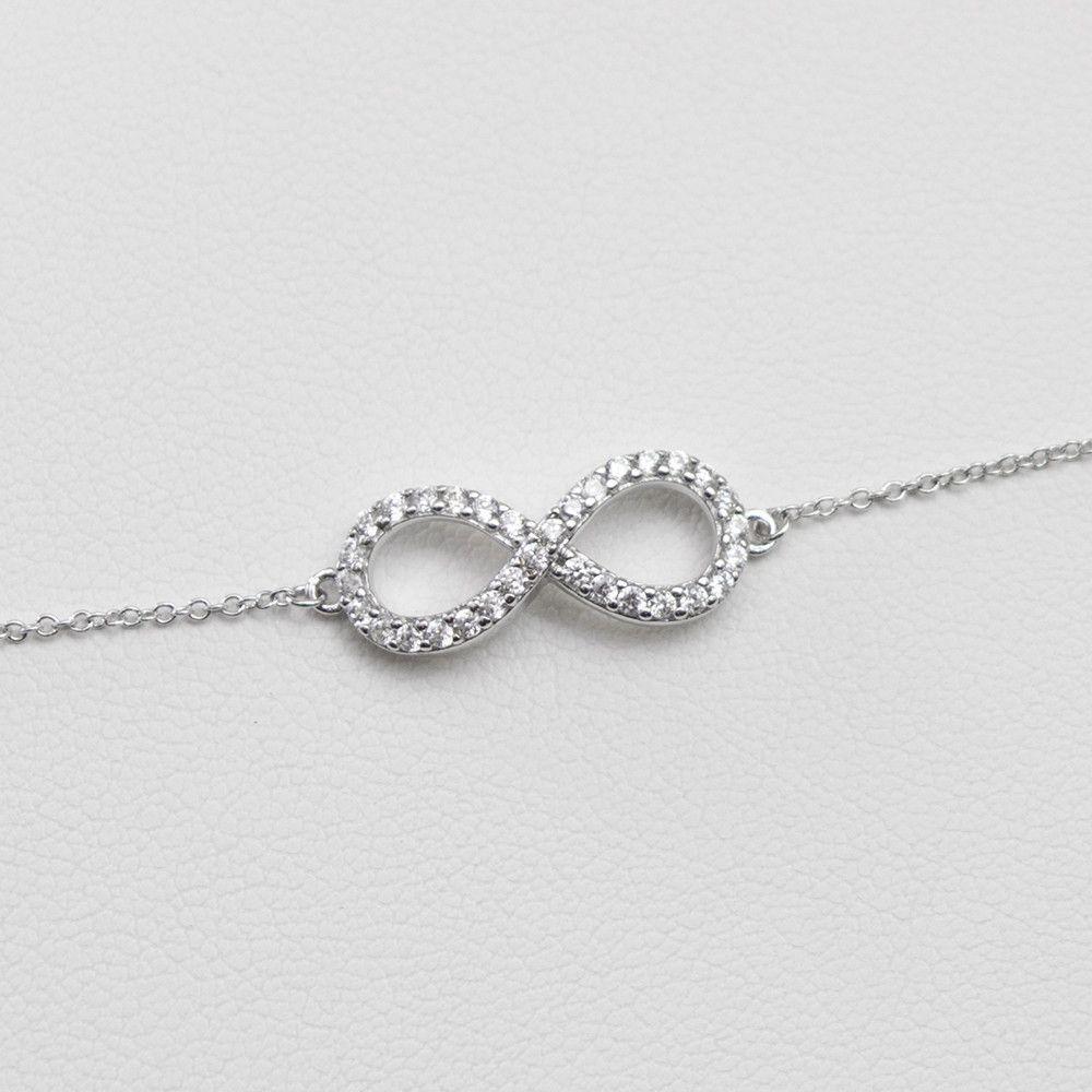- A   Infinity Bracelet Sterling Silver