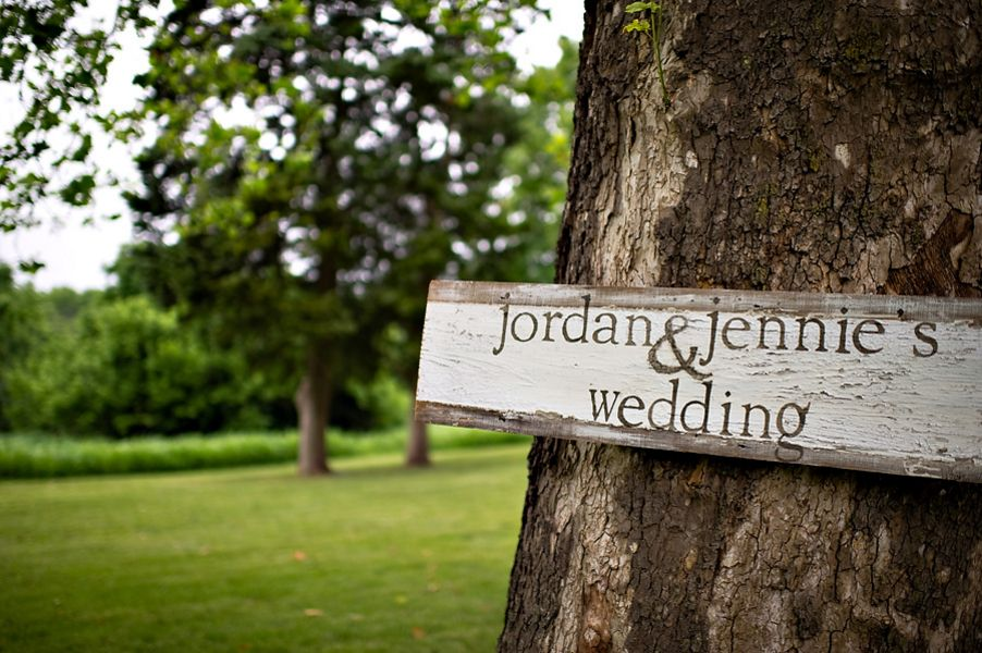 Jennie and Jordan's Outdoor DIY Wedding, With a Vintage Dress and Veil by Bound By Photography