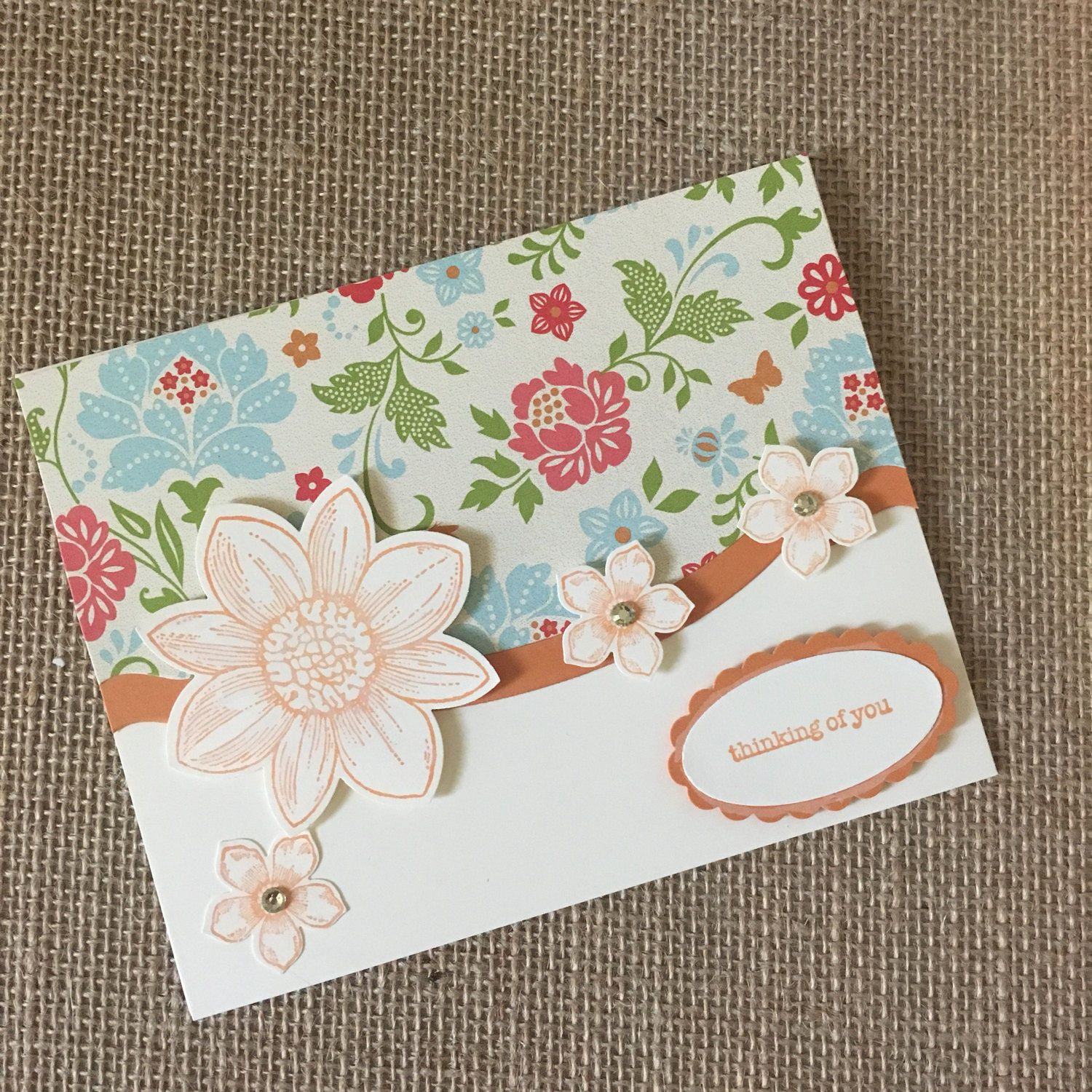 Thinking Of You Card Handmade Greeting Cards Stampin Up Greeting