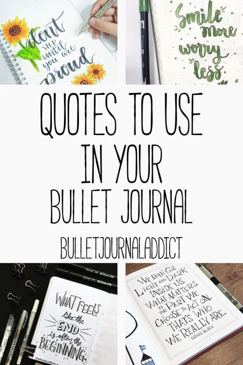 Bullet Journal Addict - Quote Page Ideas For Your Bullet Journal