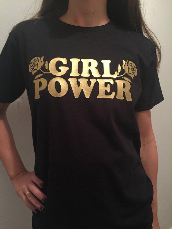 80cc8230 Girl Power Flower Graphic Tee, Feminist Shirt, Girlfriend Gift, Aesthetic  Clothing, Feminism T-shirt, Girls Clothing Gift