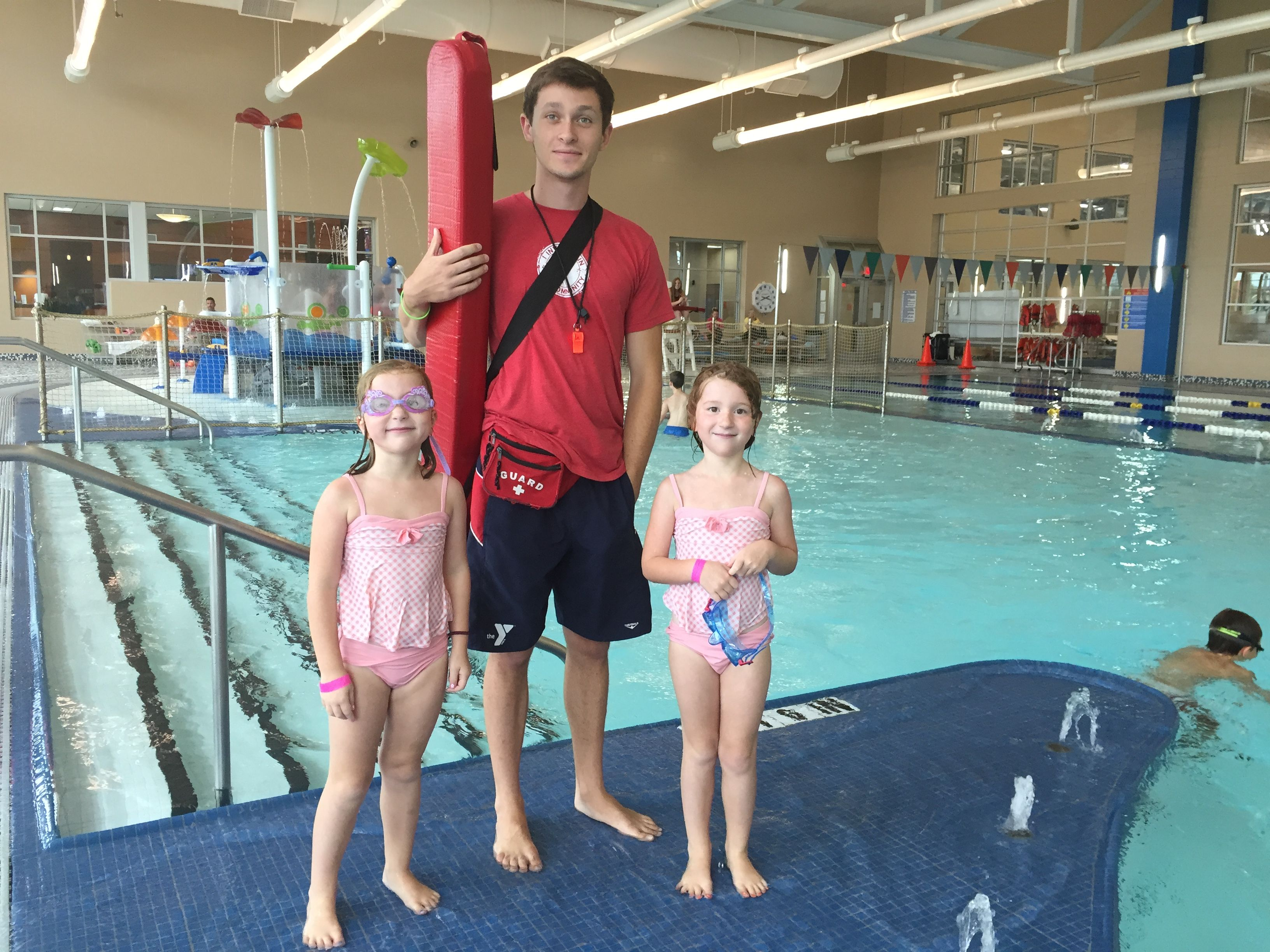 The Mitch Park Ymca Pool The Aquatic Area Includes A Leisure Lap Pool 25 Yards In Length Competitive Pool Water Toys And 130 Ymca Water Slides Water Toys