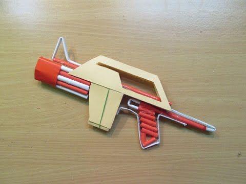 How to Make a Paper Mini Paper Gun - Easy Tutorials - YouTube | 360x480