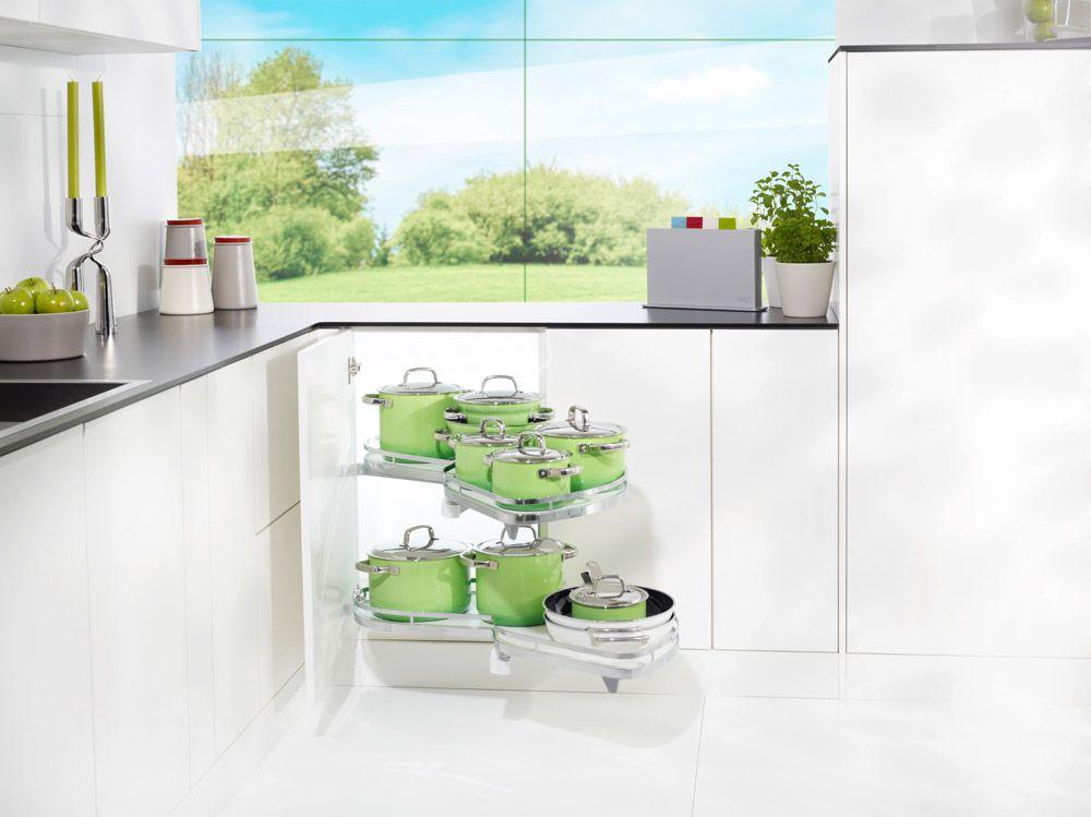 Cucine ad angolo, soluzioni: attrezzatura interna girevole ...
