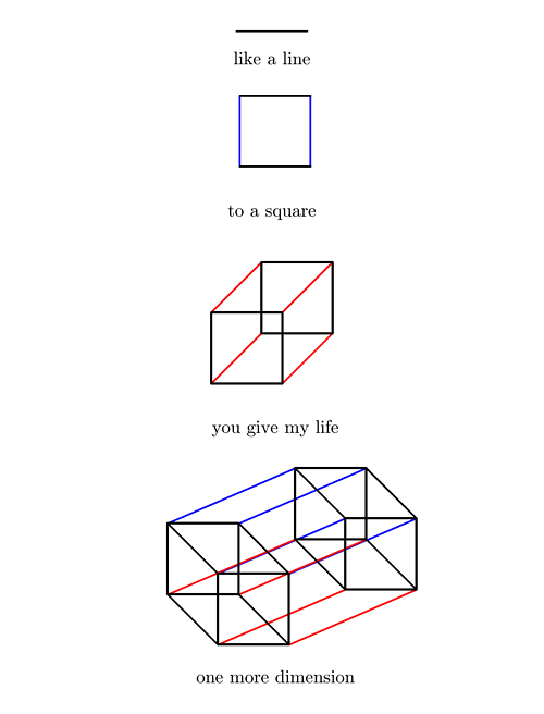 invisiblejonsters: a valentines card from a geometer