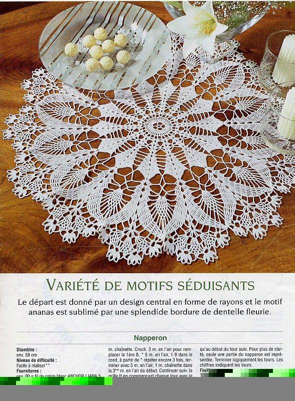 Doily 1 | Crochet - Doilies/Tablecloths | Pinterest | Bordes de ...