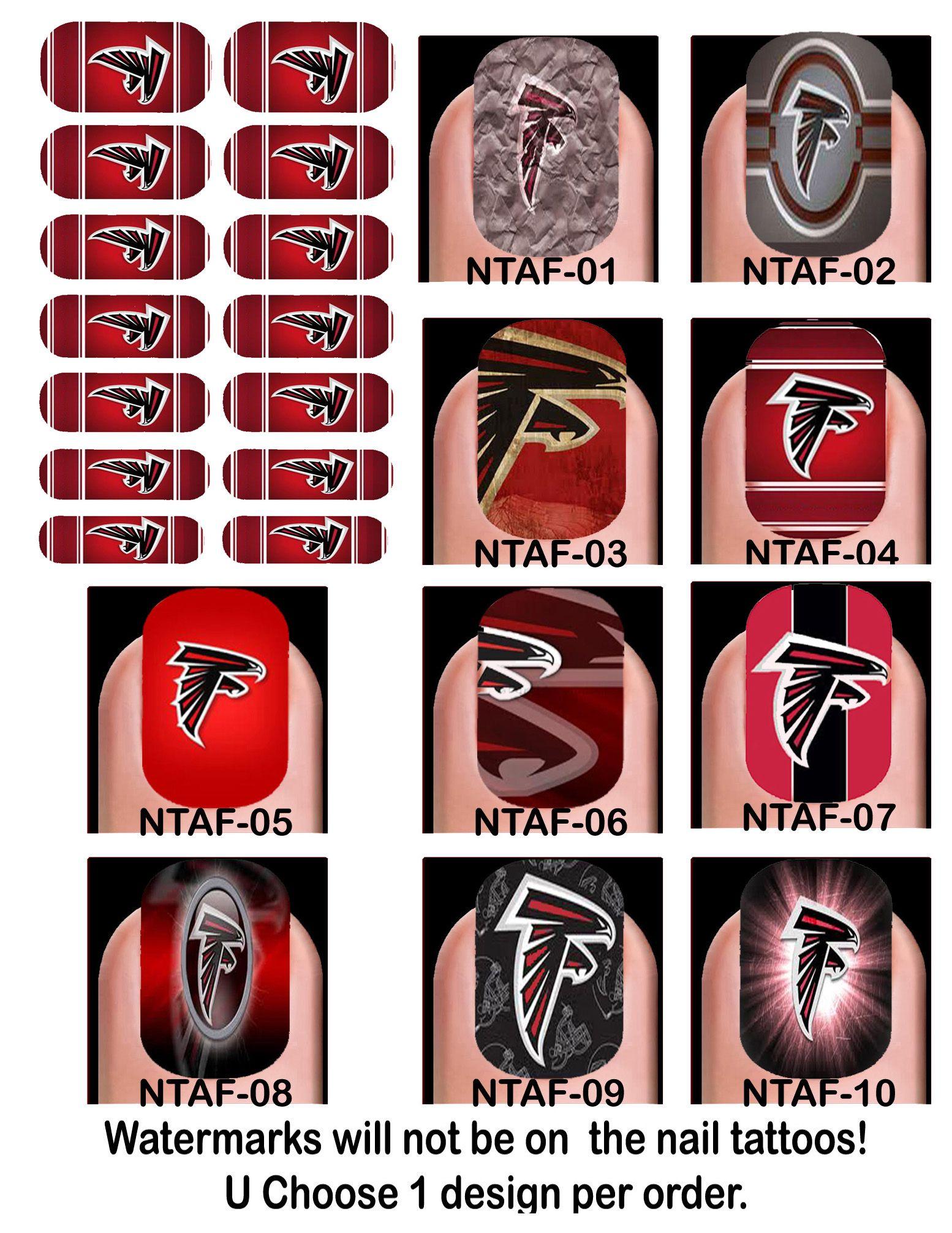 Atlanta Falcons Atlanta Falcons Nail Tattoo Atlanta Falcons Decal