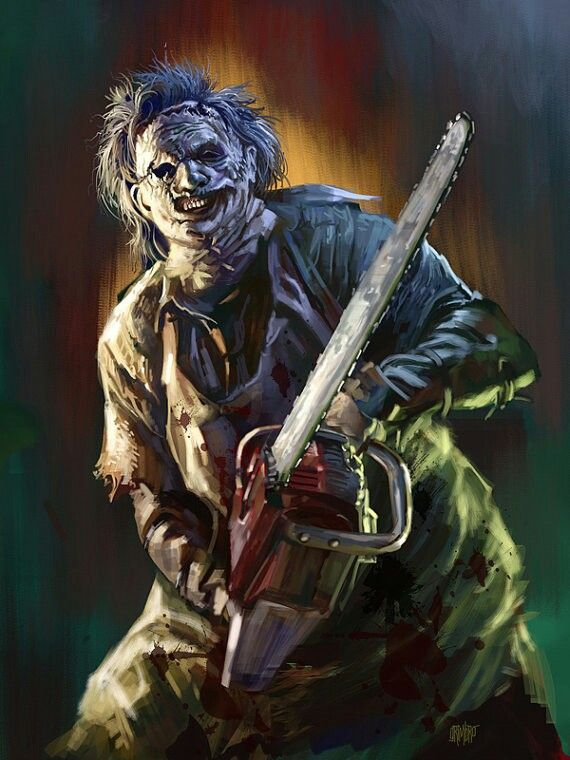 Leatherface Horror Villians Horror Artwork Horror Movie Icons