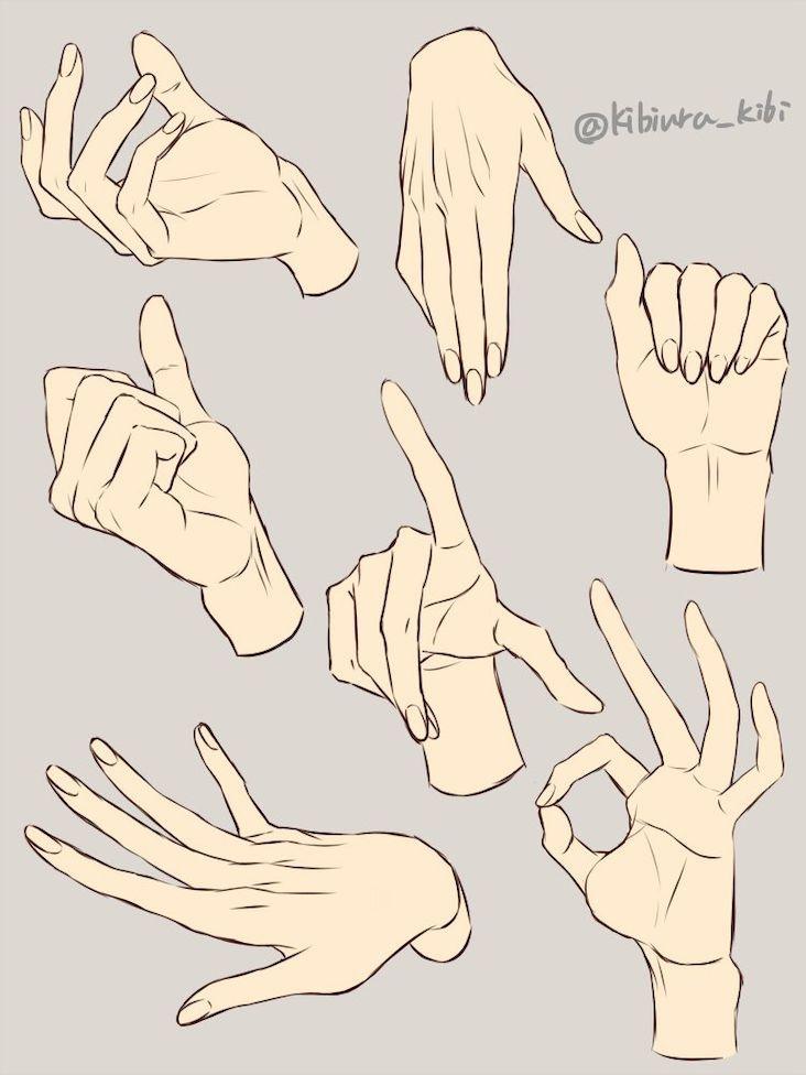 Modèles pour dessiner des mains