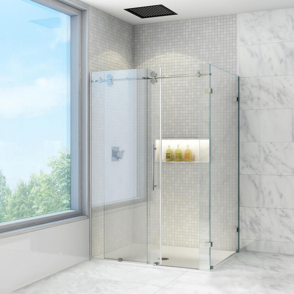 Vigo 36 Inch X 60 Inch Frameless Shower Stall In Clear With