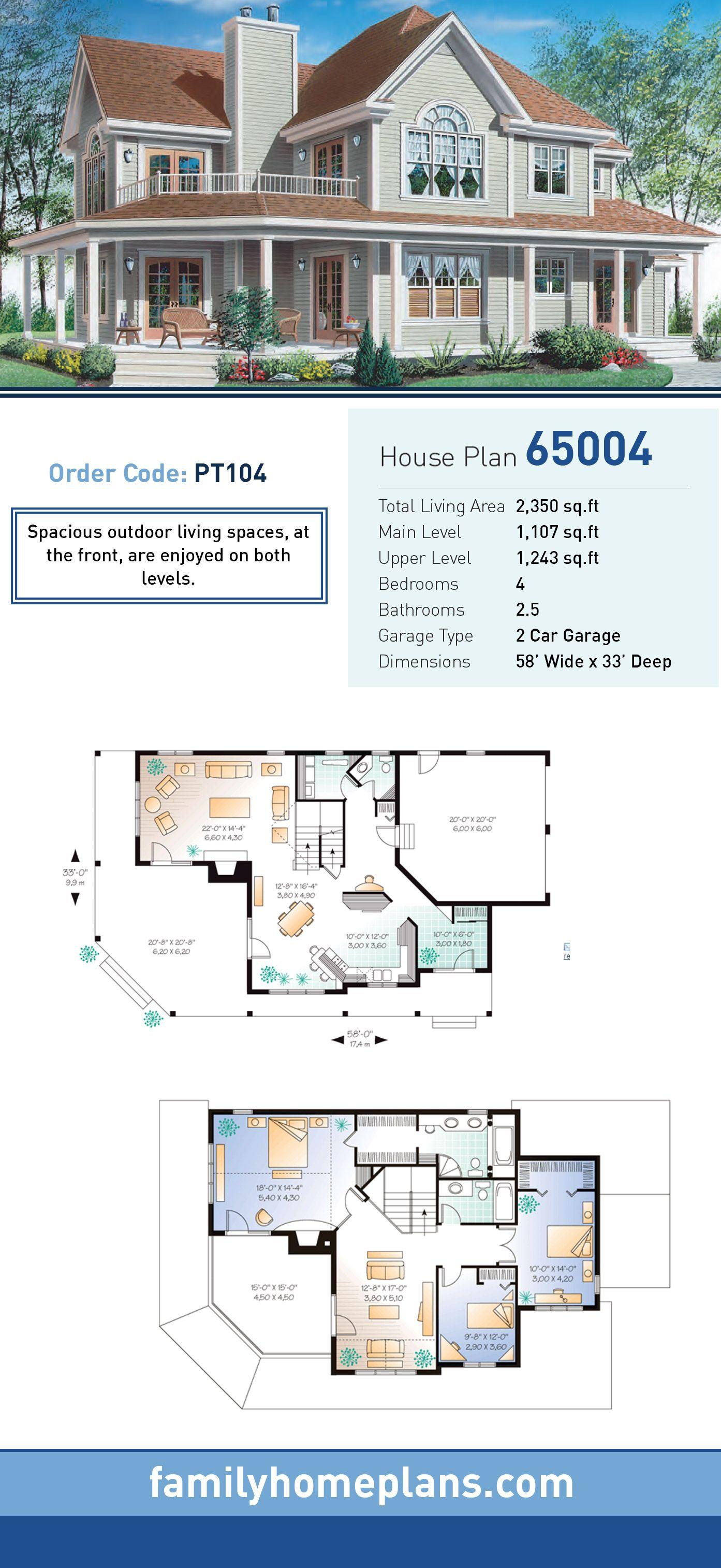country farmhouse traditional house plan 65004 farmhouse plans