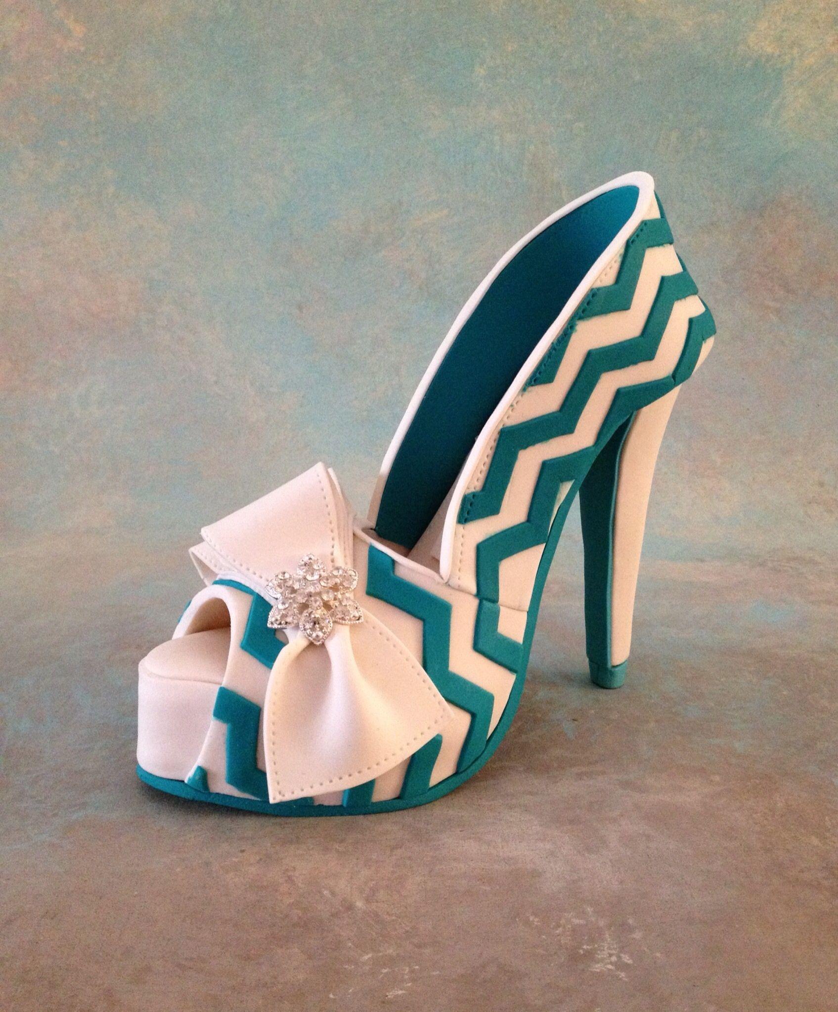 Pin Fondantgumpaste High Heel Shoe Tutorial Cake