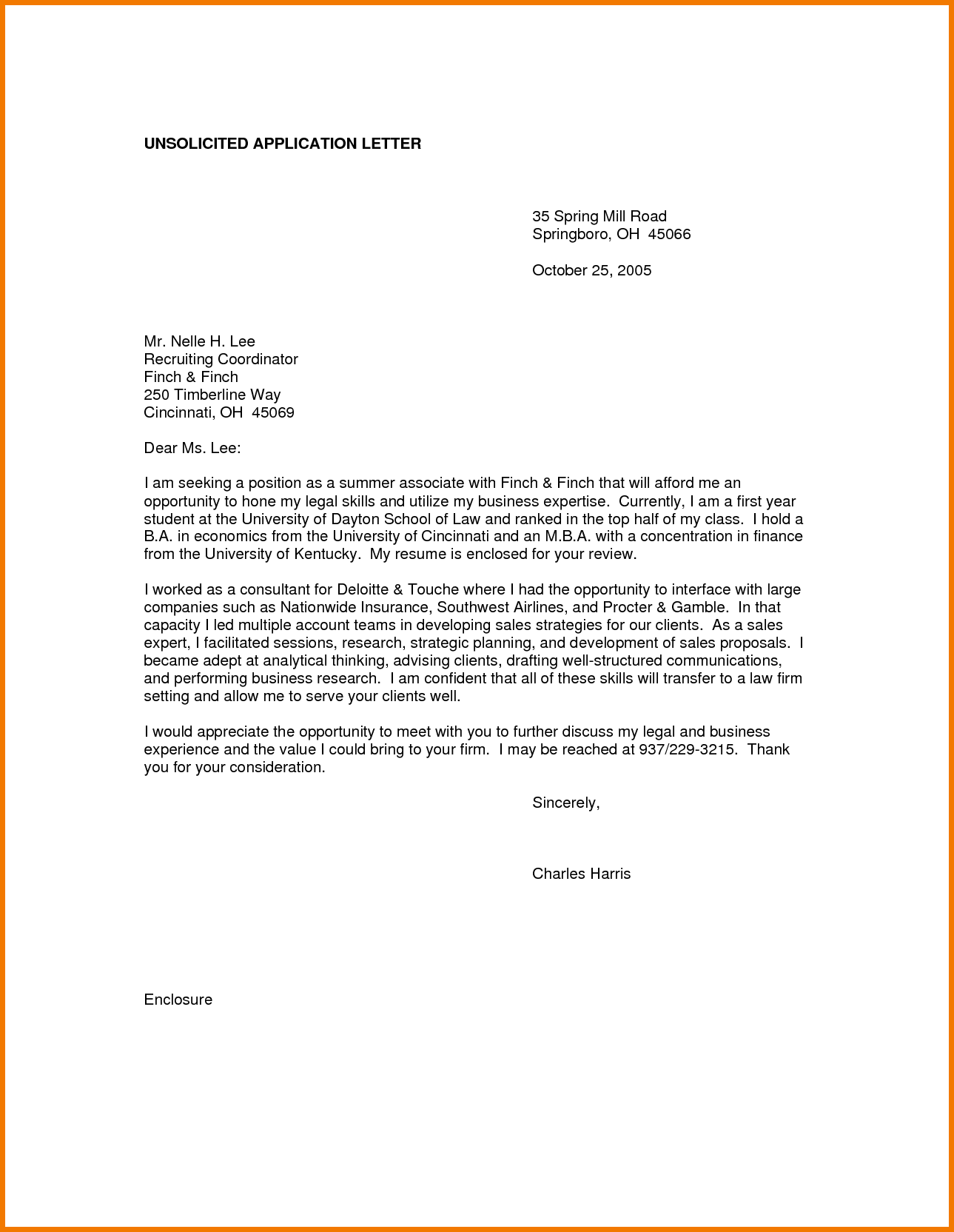 letter format template