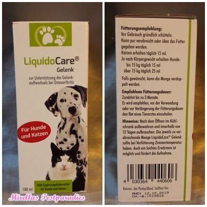 Gelenk Hund und Katze von LiquidoCare® - Wirkungsvoll, aber zu teuer | Mirellas Testparadies