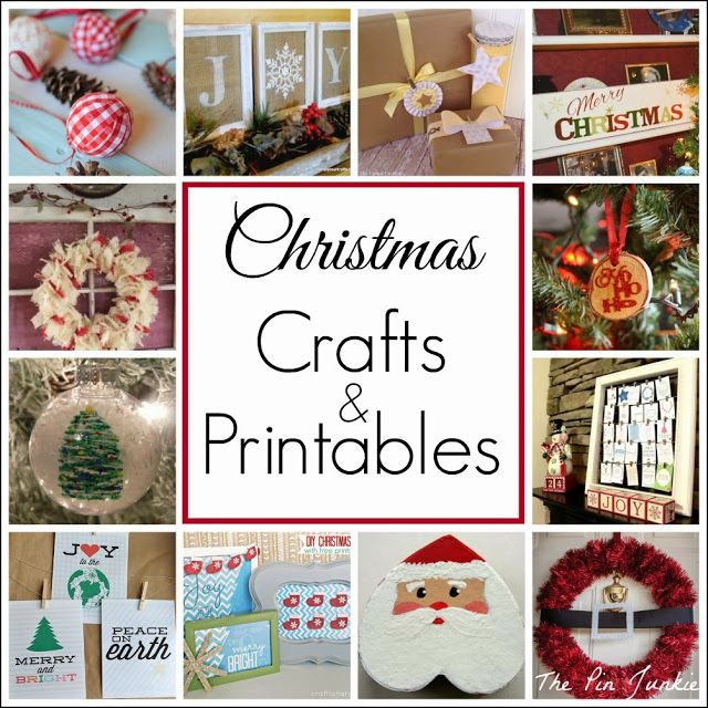 The Pin Junkie: Christmas Crafts and Printables