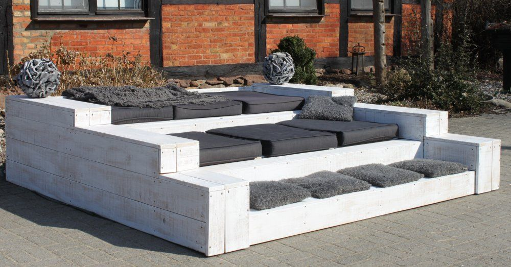 xxl garten wohn lounge palettensofa sitzgruppe garnitur gartenm bel sch ner garten. Black Bedroom Furniture Sets. Home Design Ideas