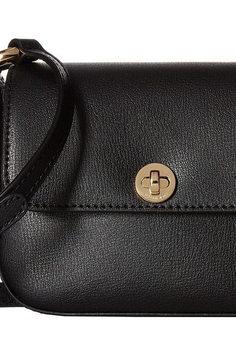 b8640bb22e63 MICHAEL Michael Kors Rivington Large Flap Crossbody (Black) Cross Body  Handbags - MICHAEL Michael