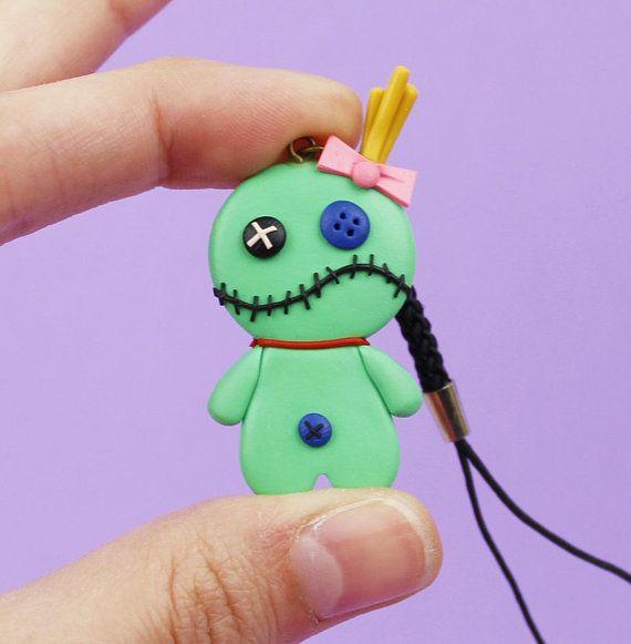 Halloween keychain Voodoo doll jewelry Zombie keychain ...