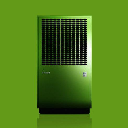 Ne, schicke grüne Luft/Wasser-Wärmepumpe von Dimplex. Ok, nicht jedermanns Farbe, dann vielleicht in einer der 1625 anderen Farbvarianten? Das ganze natürlich mit PV Strom versorgen.  #Granzow #Photovoltaik #Dimplex #Wärmepumpe #Solar