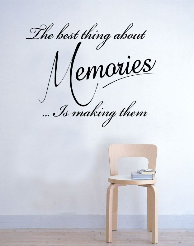 233a74b88b54 The best thing about Memories Wall Sticker Quote Bedroom Kitchen Inspirational  Vinyl Decal Art. £19.99