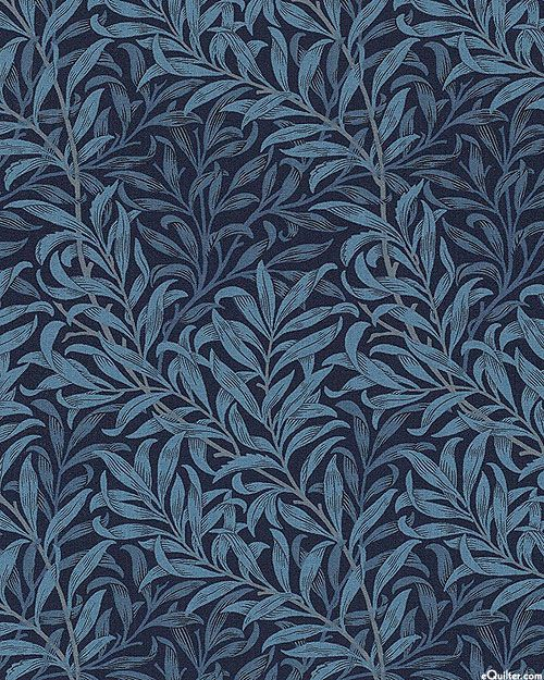Best of Morris Olive Branch Décor Midnight Blue