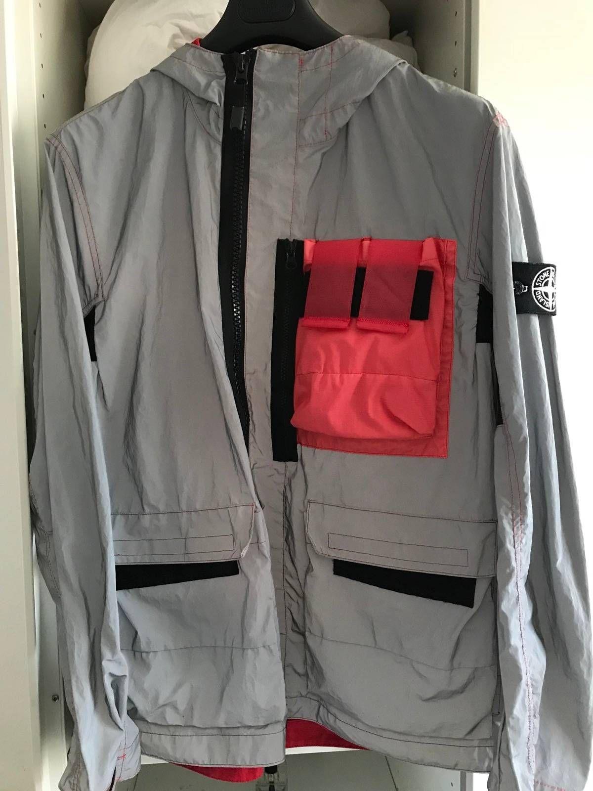 49708597e143 Buy Stone Island Stone Island Mussola Gommata Reflective Jacket Pink Pocket  size Large