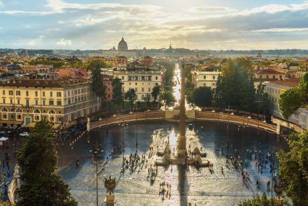 La Vista Di Roma Dalla Terrazza Del Pincio Elena Odareeva