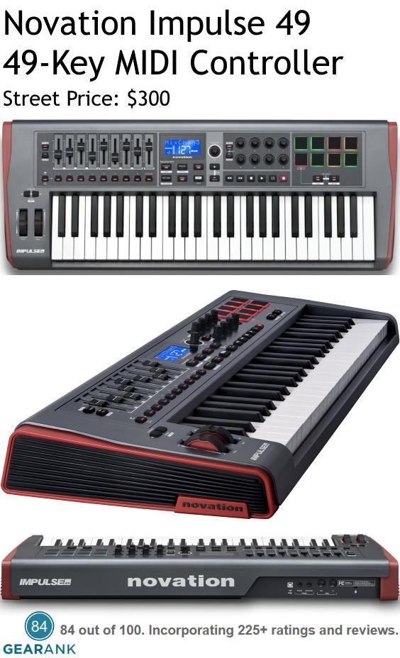 novation impulse 49 key midi controller keyboard it has dedicated transport controls buttons. Black Bedroom Furniture Sets. Home Design Ideas