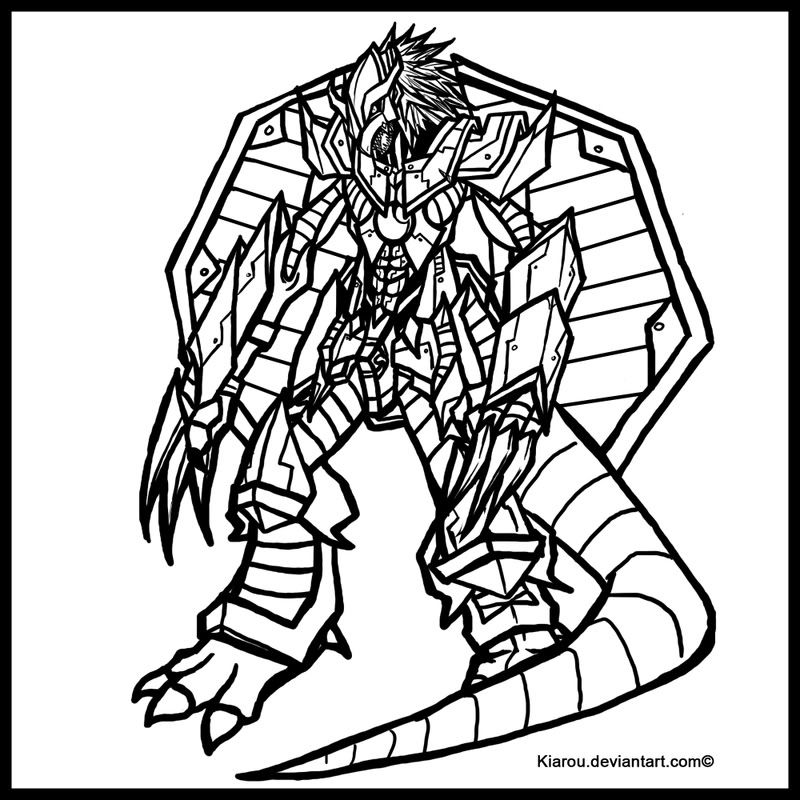new digimon coloring pages - photo#9