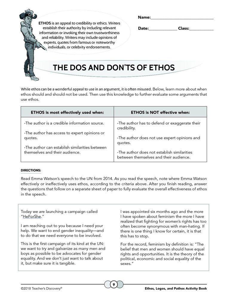Ethos Pathos Logos Worksheet Answers Ethos Logos and