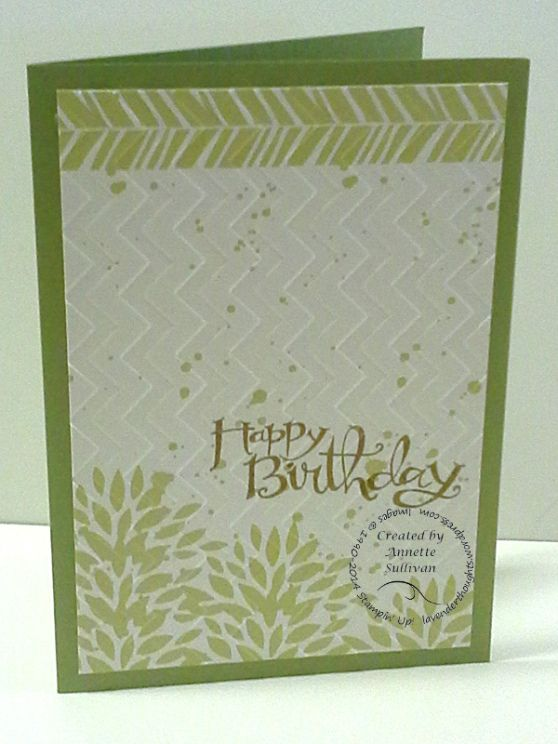 Lavender Thoughts Stampin' Up! Petal Parade Baked Pizzazz